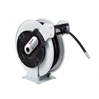 power washer reel, reel, spring loaded reel